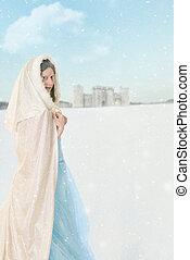 hercegnő, hó, tél