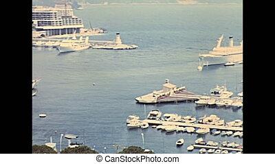 Hercule port Monte Carlo - Aerial view on port Hercule in...