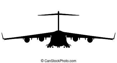 hercules 300 silhouette - military air plane silhouette,...