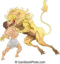 hercules, leão