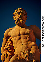 hercules, marktplatz, heidelberg, standbeeld