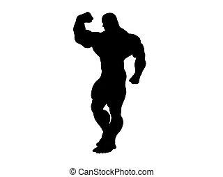 Hercules Silhouette - Heavily muscles silhouette hercules...