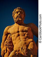 Hercules statue at Marktplatz, Heidelberg
