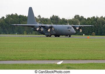 Hercules transporter aircraft