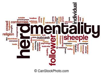 Herd mentality word cloud - Herd mentality concept word...