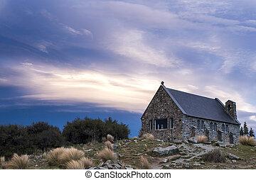 herdershond, goed, kerk