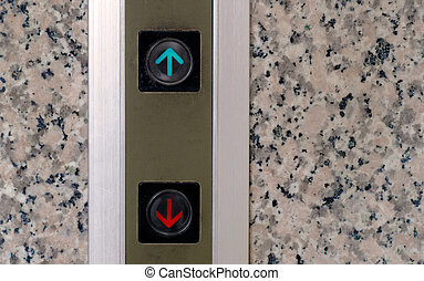 Here are elevator button of up and down signs.