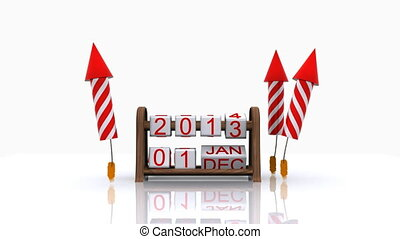 2014, 3D - Here comes the new year - 2014, 3D