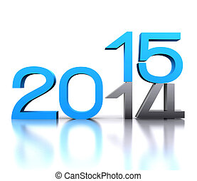 new year  - Here comes the new year  2015 - 3D