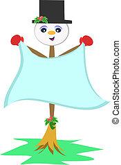 Snowman Broom Stick - Here is a cute Snowman Broom Stick...