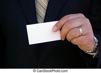 here\\\'s my card - man with his business card