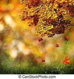 herfst, abstract, natuurlijke , achtergronden, voor, jouw, ontwerp