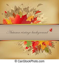 herfst, abstract, ouderwetse , achtergrond