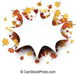 herfst, achtergrond, esdoorn, leaves.