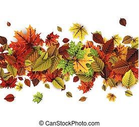 herfst, achtergrond, kleurrijke, leaves.