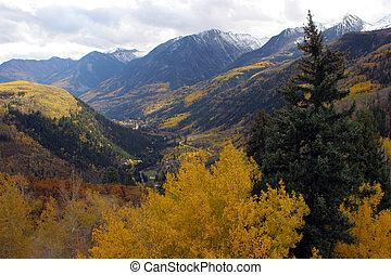 herfst, bergen
