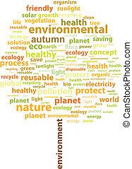 herfst, boompje, ecologie, woord, wolk