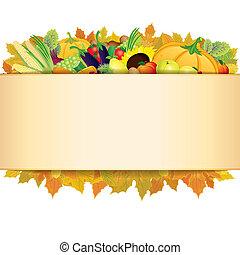 herfst, dankzegging, achtergrond.