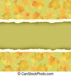 herfst, groene achtergrond, kleurrijke