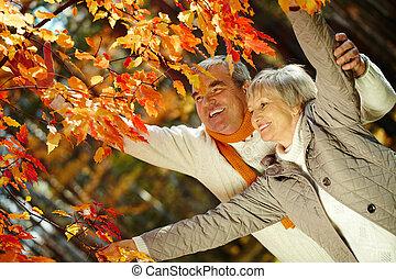 herfst, het genieten van