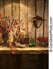 herfst, in, interieur