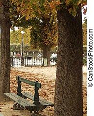 herfst, in, parijs