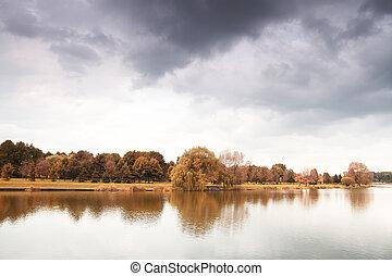 herfst, meer