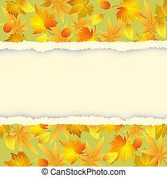 herfst, model, bladeren, achtergrond, kleurrijke