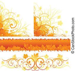 herfst, ornament, ontwerp