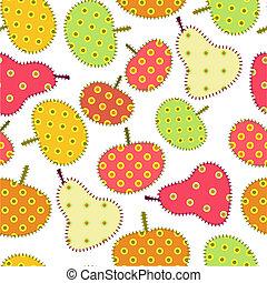 herfst, ornament, vruchten