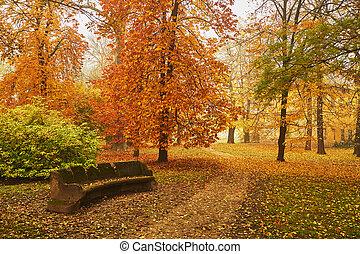 herfst, park