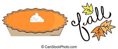herfst, pompoen pastei