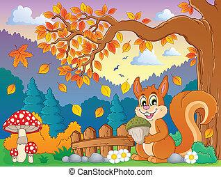 herfst, thematisch, beeld, 4