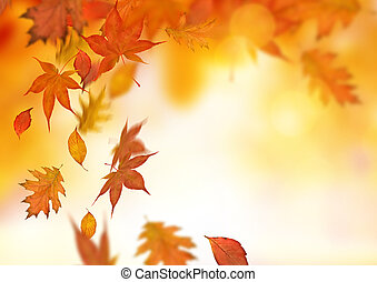 herfst, vallende verlofen, achtergrond