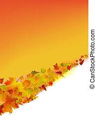 herfst, vector, achtergrond