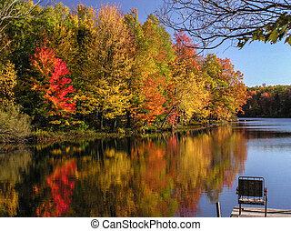 herfst, weerspiegelingen