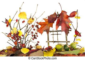 herfst, zoet, vrijstaand, home...