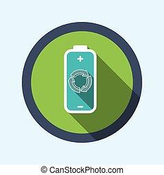 hergebruiken, batterij, design.
