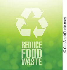 hergebruiken, voedingsmiddelen, afval, verlagen, groene