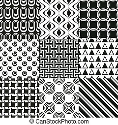 herhaald, black , geometrisch, achtergrond