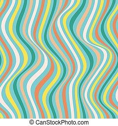 herhalen, lijnen, pattern., seamless, golvend, kleurrijke