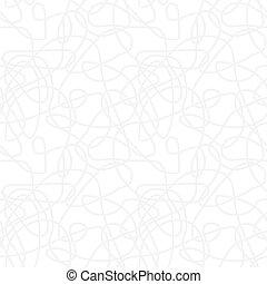herhalen, model, abstract, -, seamless, gebogen, vector, achtergrond, licht, monochroom, lijnen