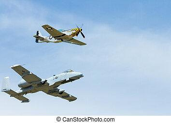 Heritage flight in action