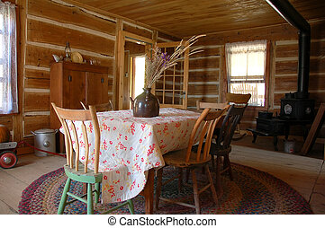 Heritage kitchen - An antique kitchen in a traditional old ...