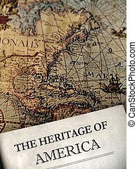 Heritage - Old map and history book