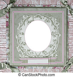 Heritage Theme Scrapbook Frame Template