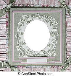 Heritage Theme Scrapbook Frame Template