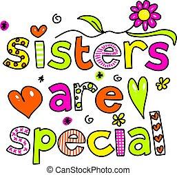 hermanas, ser, especial