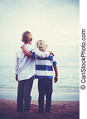 hermanos, amistad, concepto