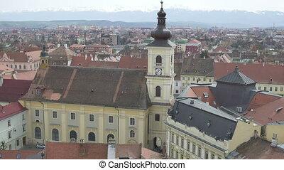Hermanstadt Catholic Church - Top view of the Hermanstadt...